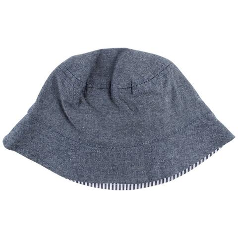 Nordic vendbar hat, strib/denim, SPF 50
